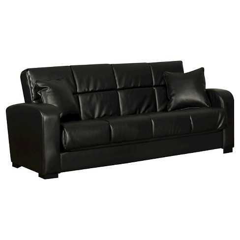 Damen Convert-a-Couch Renu Leather Futon Sofa Sleeper -  Handy Living - image 1 of 5