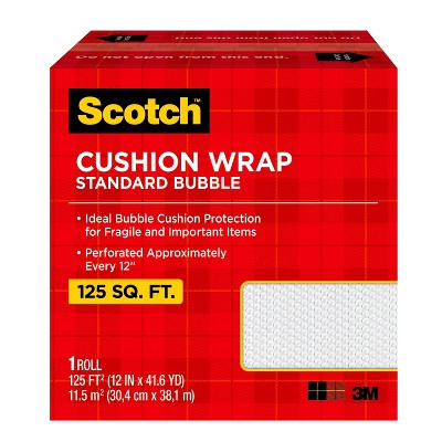 Scotch 125 sq ft Cushion Bubble Wrap Perforated