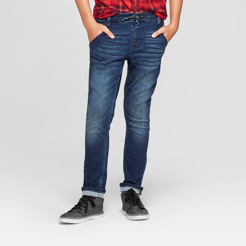 Boys' Cozy Jeans - Cat & Jack Medium Blue 16 Husky