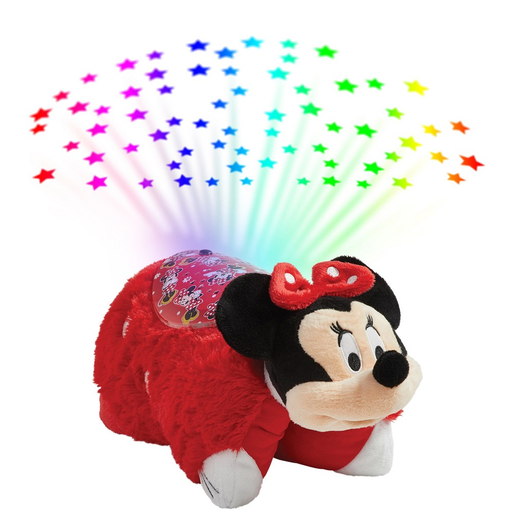Image of Dsiney Minnie Mouse Sleeptime Lite Plush Nightlight Red - Pillow Pets