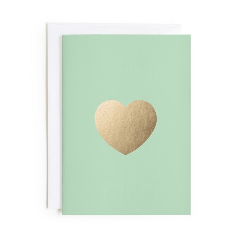 Minted Gold Heart Card - image 1 of 1