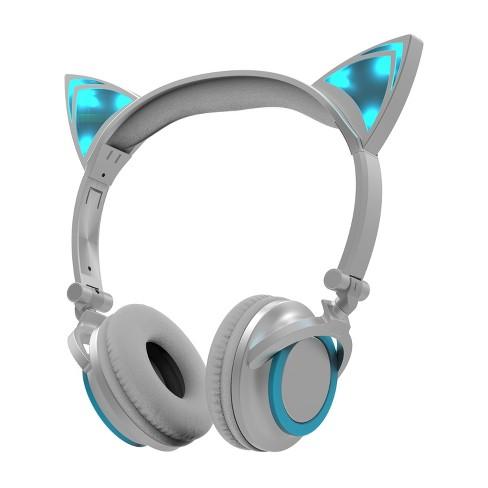 Sharper Image Led Cat Ear Headphones Blue Sbt662bl Target