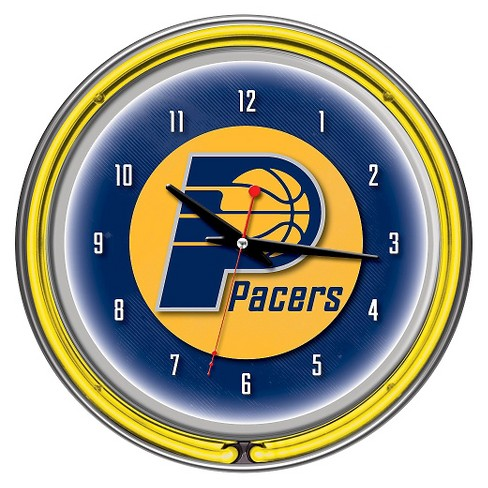 Indiana Pacers Team Logo Wall Clock - image 1 of 4