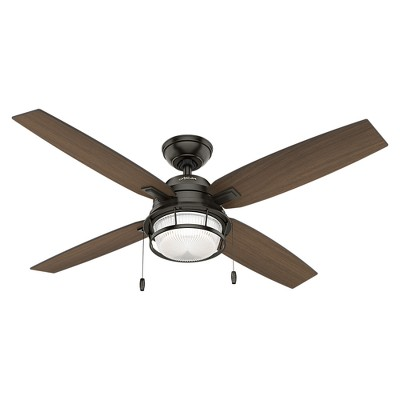 "52"" Ocala Damp Rated Ceiling Fan (Includes Light Bulb) - Hunter"