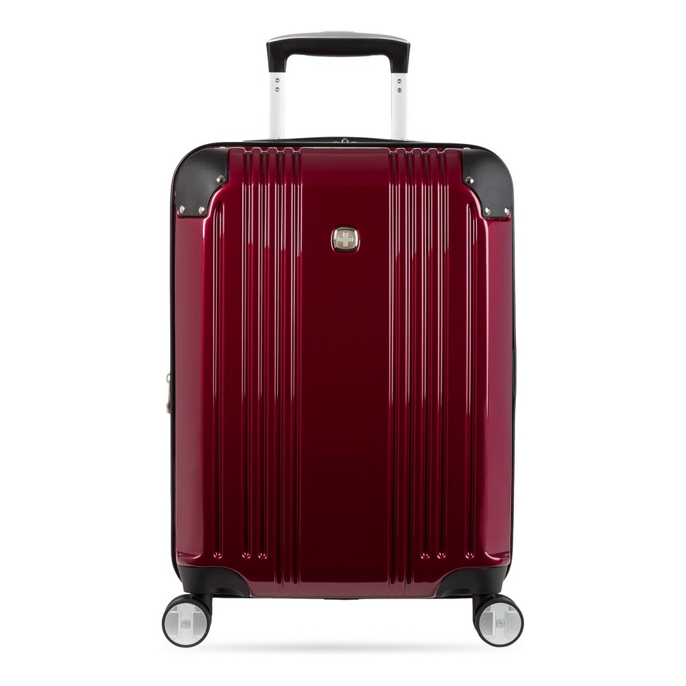 Swissgear 20 34 Hardside Carry On Suitcase Red