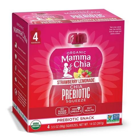 Mamma Chia Strawberry Lemonade Squeeze Vitality Snack - 4ct - image 1 of 4