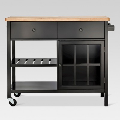 Windham Wood Top Kitchen Island - Black - Threshold™