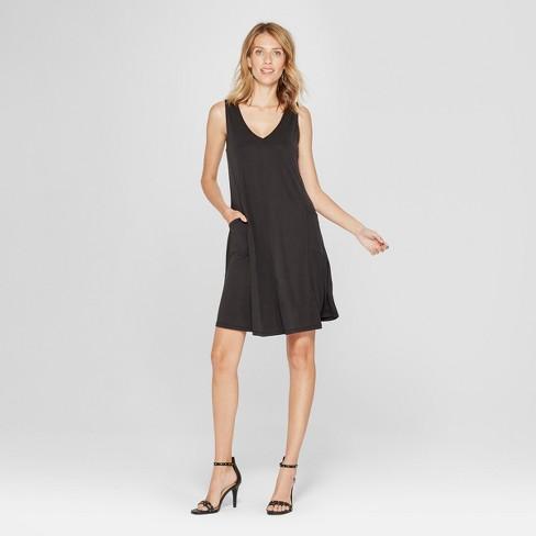 ce51d2d606c5 Women's Cupro Side Pocket Swing Dress - Spenser Jeremy - Black
