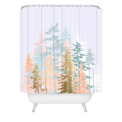 Forest Shower Curtain Purple - Deny Designs