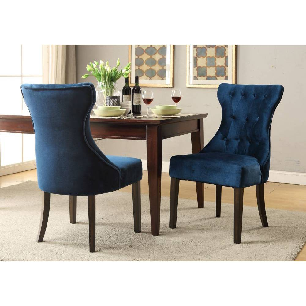 Set of 2 Bronte Dining Chair Blue - Chic Home Design was $409.99 now $286.99 (30.0% off)