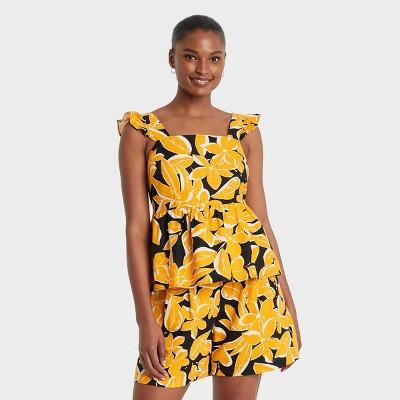 Women's Ruffle Short Sleeve Tank Top - Who What Wear™