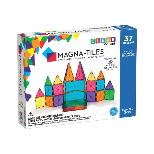 MAGNA-TILES Clear Colors 37pc Set image number null