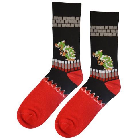 nintendo mens crew socks super mario king koopa - Christmas Socks Target