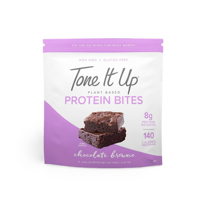 Tone It Up Plant Based Protein Bites - Chocolate Brownie - 8ct - image 1 of 1
