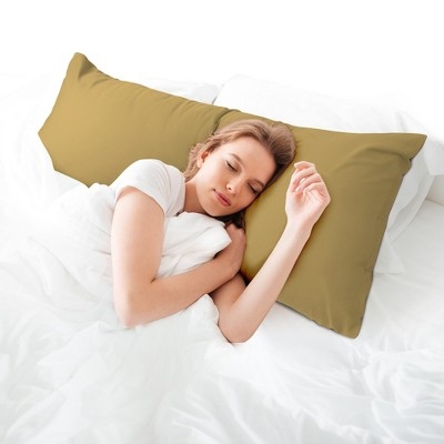 1 Pc Body Egyptian Cotton Pillowcase Camel Color - PiccoCasa