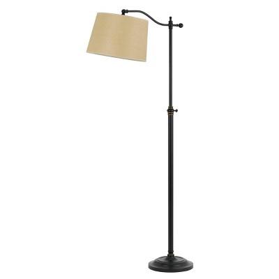 """52"""" x 62.5"""" Adjustable Height Wilmington Metal Floor Lamp Dark Bronze - Cal Lighting"""