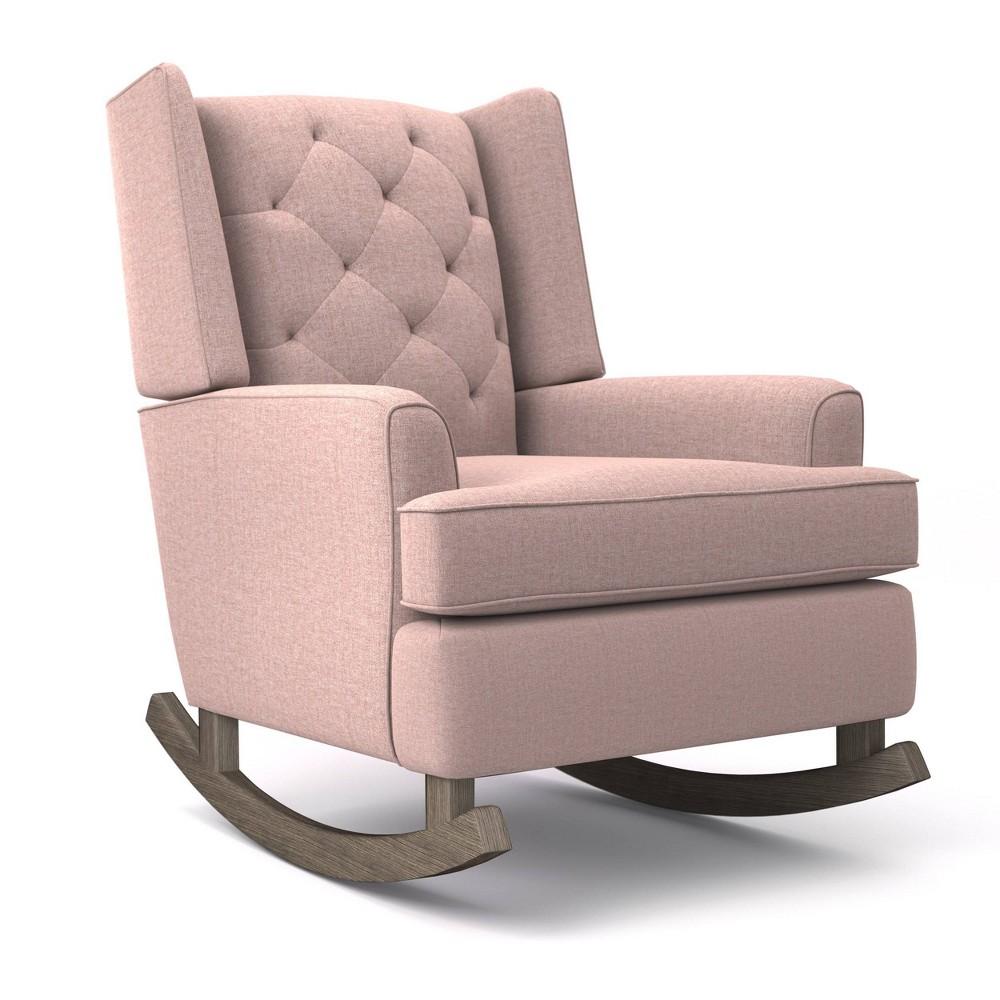 Image of Best Home Furnishings Ames Upholstered Runner Rocker - Quartz