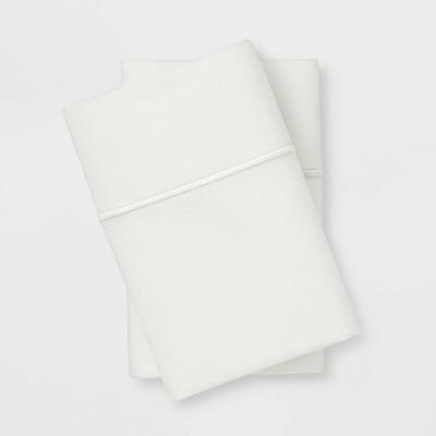 King 1000 Thread Count Solid Pillowcase Set Sour Cream - Threshold Signature™