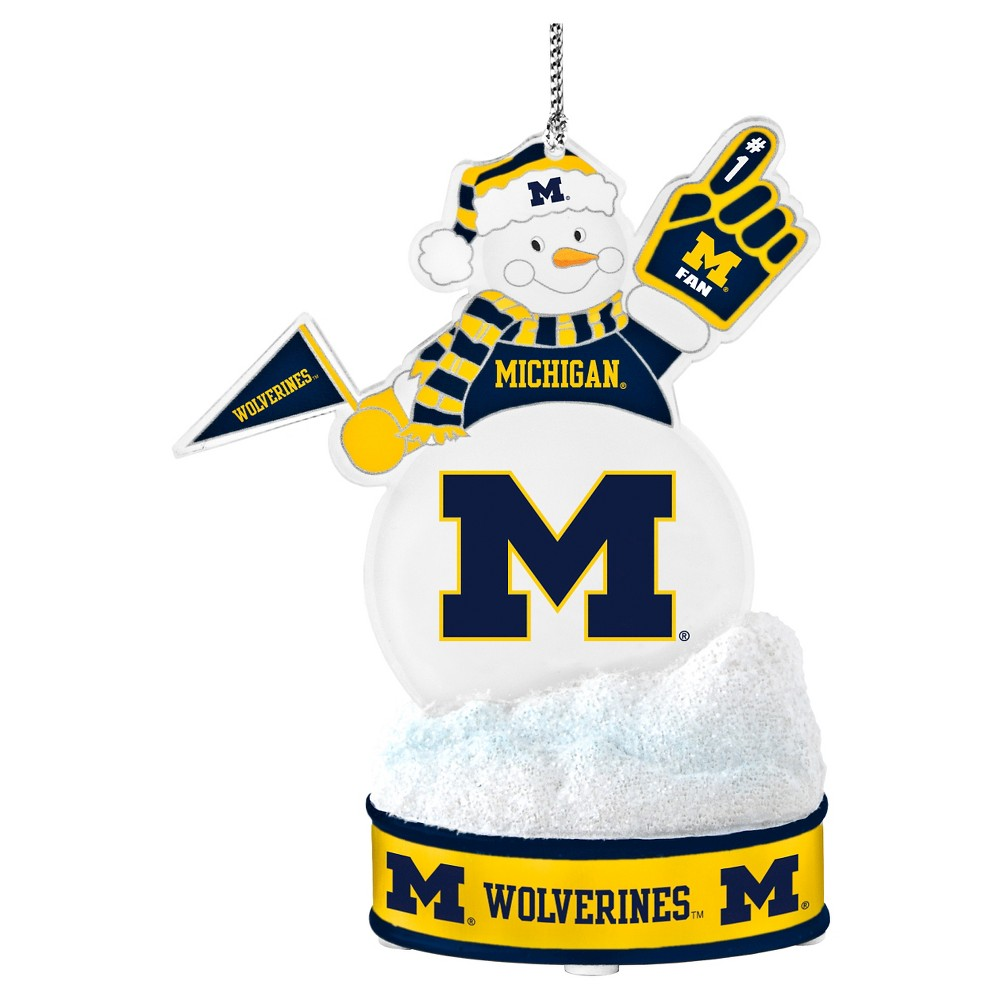 NCAATopperscot Led Snowman Ornament Michigan Wolverines