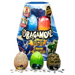 Dragamonz Super Series 1 Player Starter 3pk Collectible Figure and Trading Card Game (Styles May Vary)