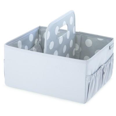 Eddie Bauer® Nursery Caddy - Gray with White Polka Dots