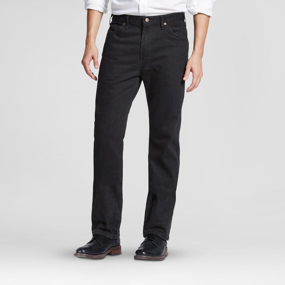 Dickies Men's Regular Straight Fit Denim 6-Pocket Jeans - Overdyed Black 36x30