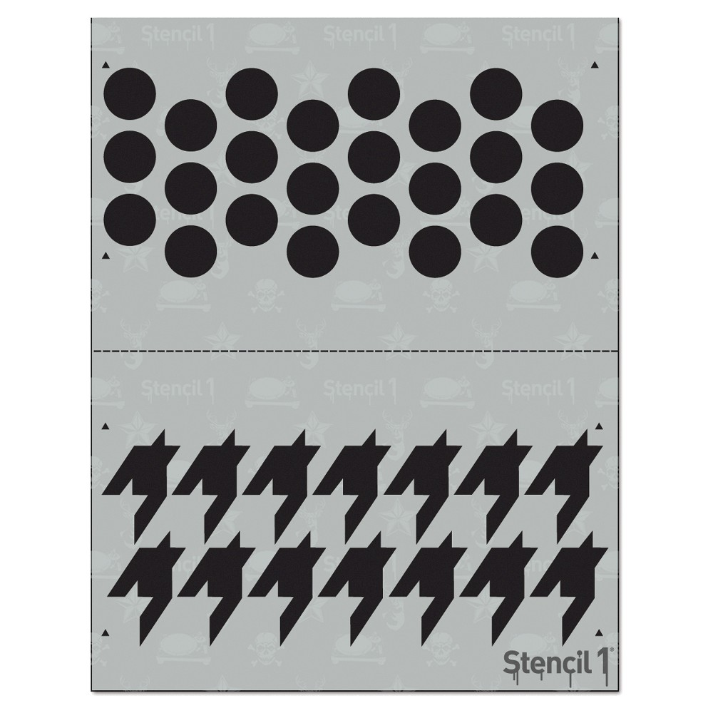 Stencil1 Houndstooth Repeating - Stencil 8.5