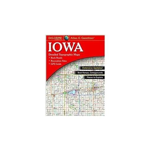 Delorme Atlas Gazetteer Iowa Paperback Target