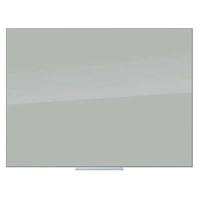 "U-Brands 48"" x 36"" Floating Glass Dry Erase Board - Frameless Gray Surface"