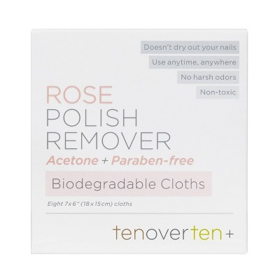 tenoverten Polish Remover Wipes - 8ct