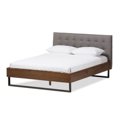 Mitc Rustic Industrial Walnut Wood, Wood Metal Bedroom Furniture