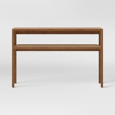 Warwick Narrow Console Table with Shelf Brown - Threshold™