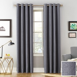"Sun Zero Baxter Theater Grade 100% Blackout Grommet Curtain Panel Denim 52""x63"""
