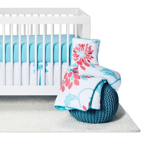 Sweet Jojo Designs Emma 11pc Crib Bedding Set Turquoise Pink