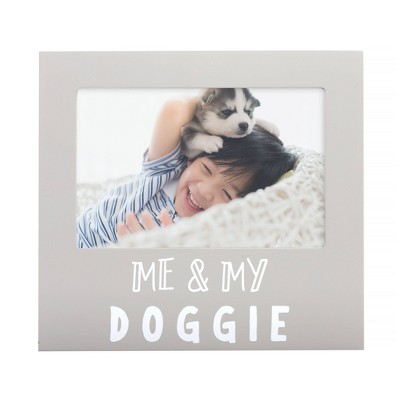"Pearhead Me & My Doggie Picture 4"" x 6"" Frame - Gray"