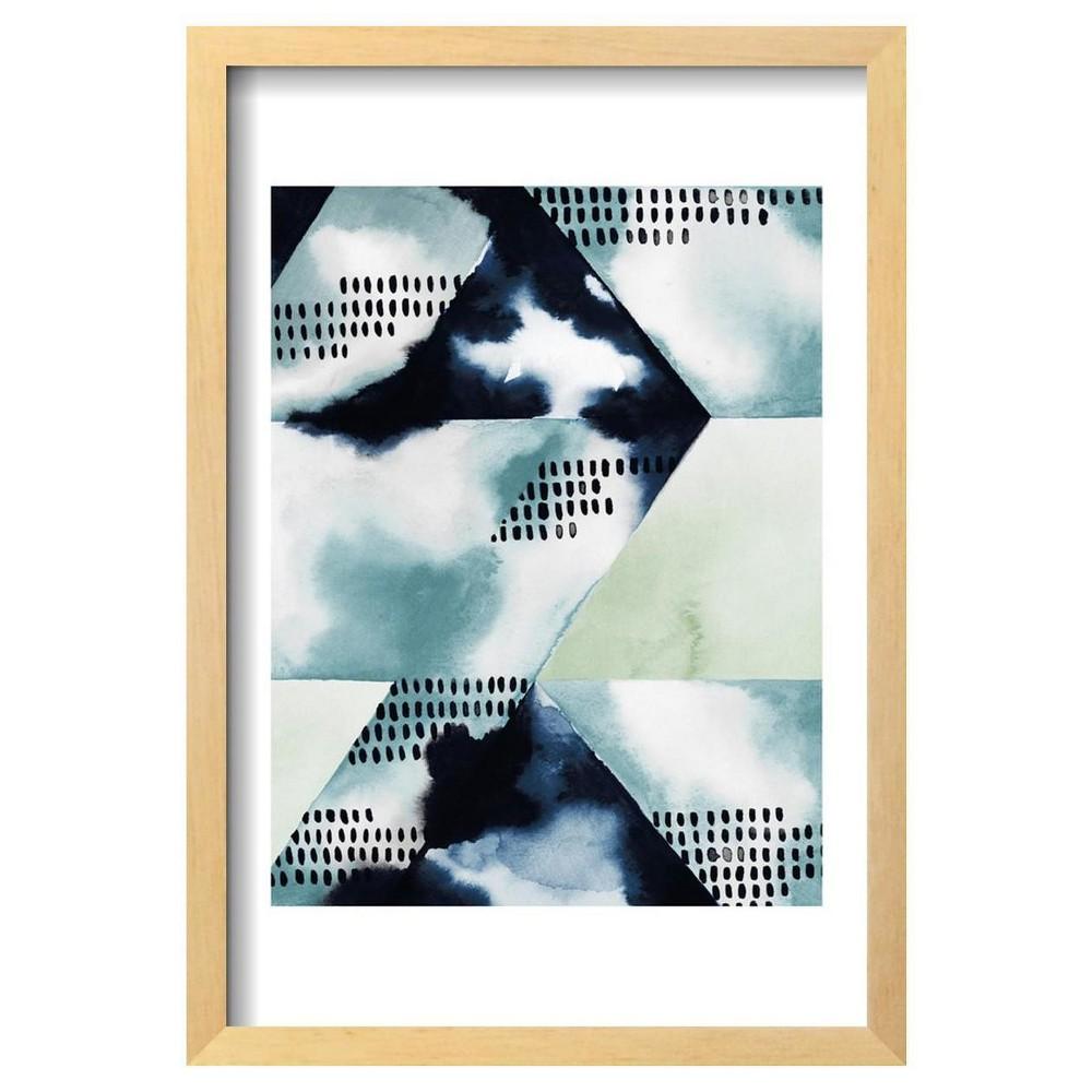 Blue Billow I By Grace Popp Framed Poster 13