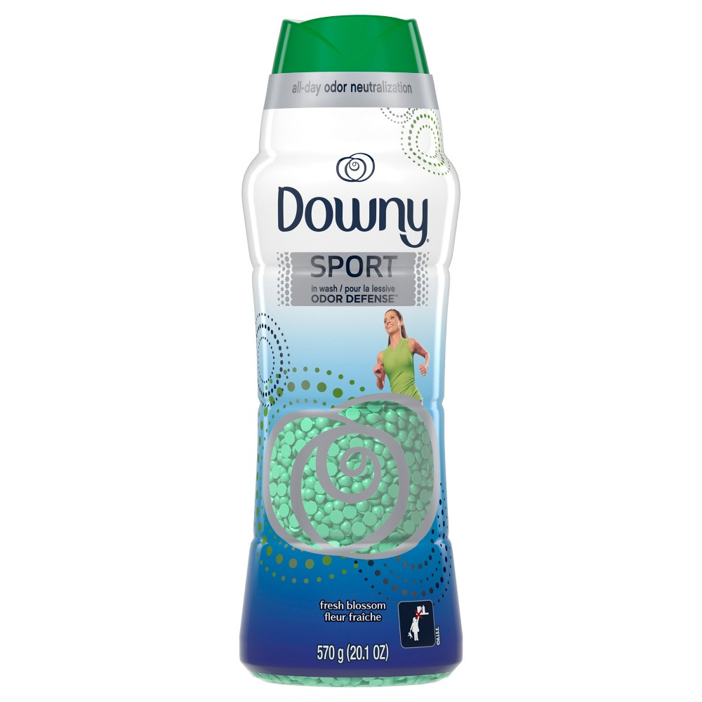 Downy Sport Odor Defense Beads in Wash Fresh Blossom Scented Beads - 20.1oz