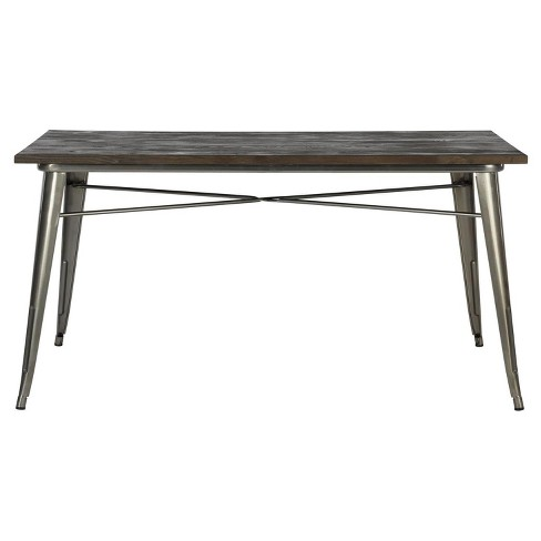 Fusion Rectangular Dining Table - Antique Gun Metal - Dorel Home Products - image 1 of 6