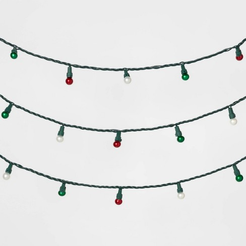 70ct LED Christmas Pearl String Lights Red/Warm White & Green - Wondershop™ - image 1 of 2