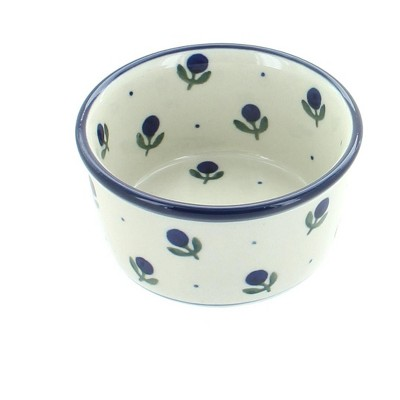 Blue Rose Polish Pottery Blueberry Small Deep Ramekin