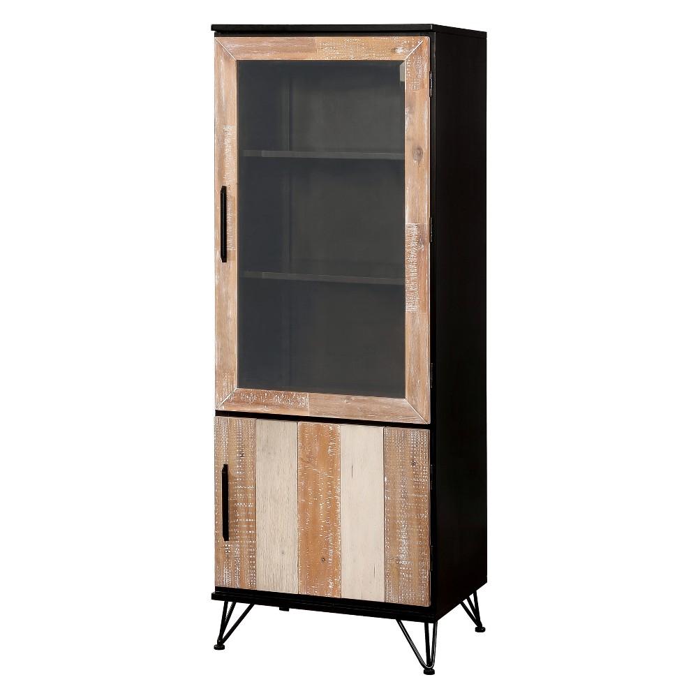 Image of Capasso Transitional 2 Door Small Pier Cabinet Espresso - ioHOMES