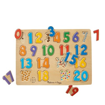 Melissa & Doug Numbers Sound Puzzle - 21pc