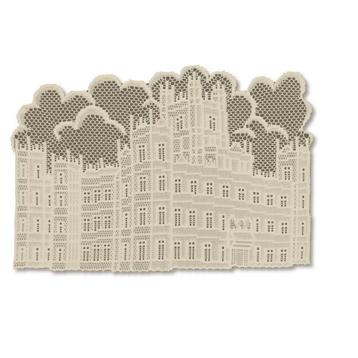 """Heritage Lace 14"""" X 20"""" Downton Abbey British Highclere Castle Table Placemats 4pc - Beige : Target"""