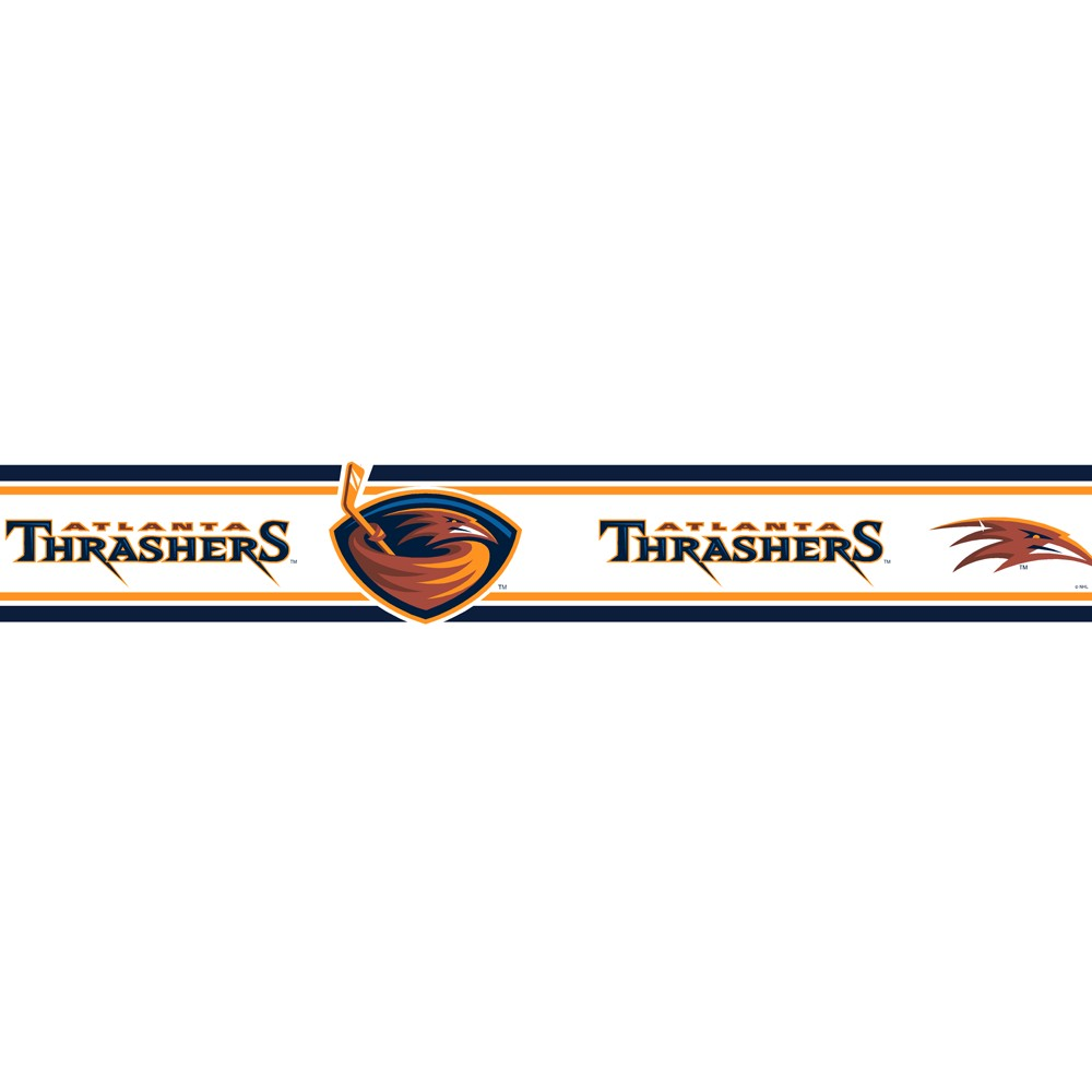 Atlanta Thrashers Wallborder - 5.5x15'