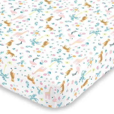 Carter's Tropical Super Soft Mini Crib Fitted Sheet - Pink