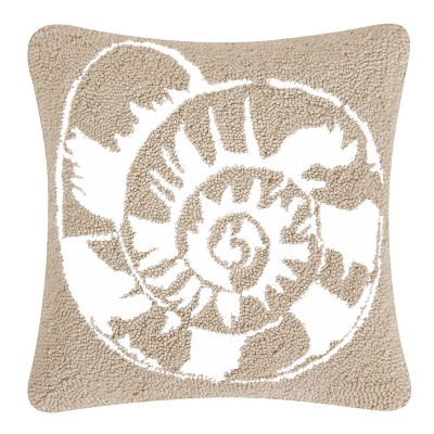 """C&F Home 18"""" x 18"""" Calypso Shell Hooked Pillow"""