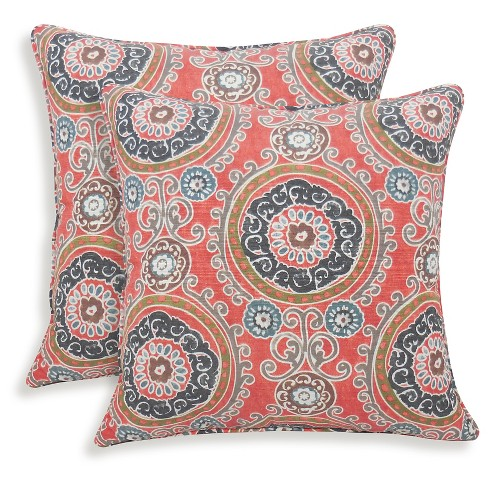 2pk Tamariz Printed Medallion Throw Pillow - Essentials - image 1 of 1
