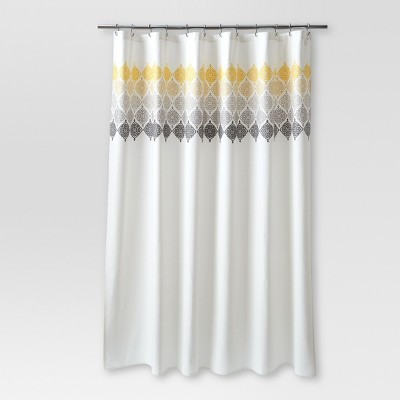Medallion Shower Curtain Ombré Cream - Threshold™