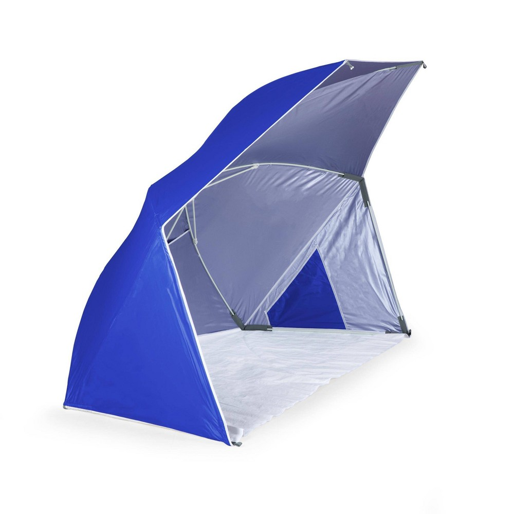Image of Picnic Time Brolly Beach Umbrella Tent - Blue