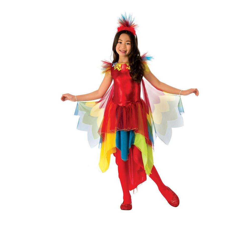 Girls' Parrot Halloween Costume M - Rubie's, Multicolored